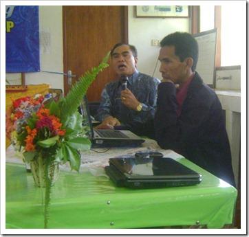 Prof. Agung and Pak Oka
